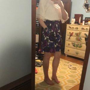 Michael Kors silk floral skirt